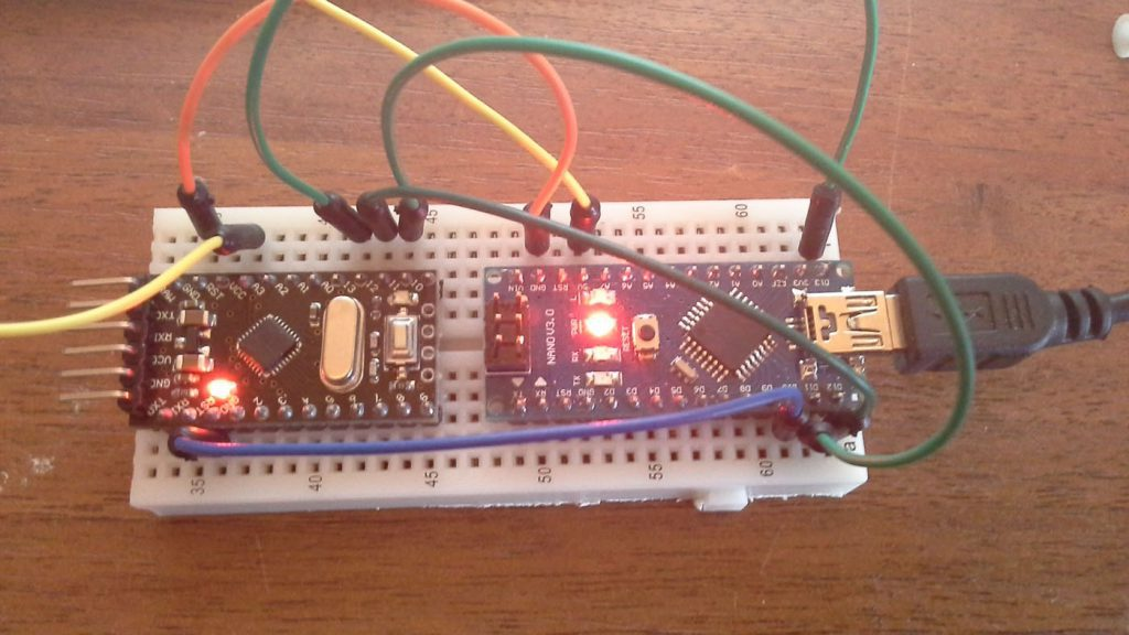 Arduino Pro Mini через Arduino Nano