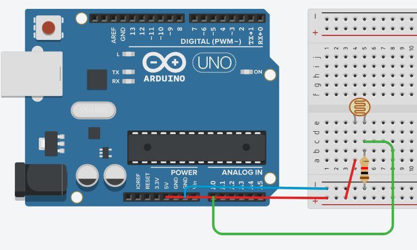 Подключение фоторезистора к Arduino
