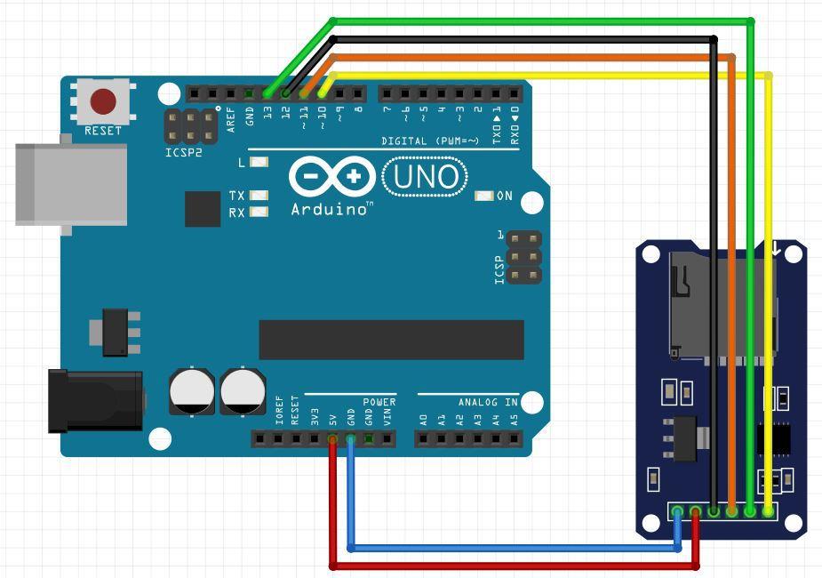 Подключение sd Arduino